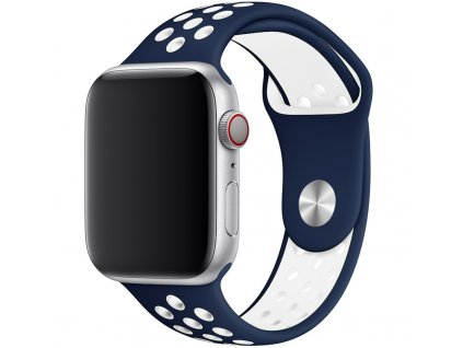 nike sport band apple watch blue white