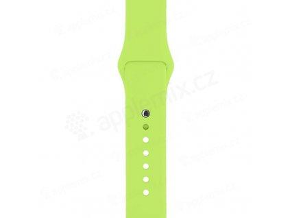 reminek pro apple watch 44mm series 4 5 6 se 42mm 1 2 3 velikost m l silikonovy zeleny 3