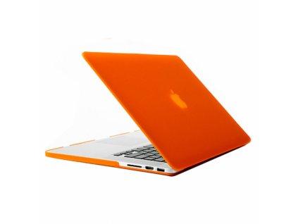 tvrzeny ochranny plastovy obal kryt pro apple macbook pro retina 13 oranzovy