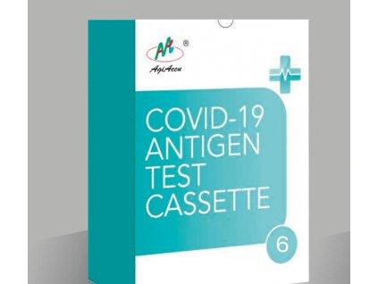 COVID-19 Antigenní Test Cassette (hypersen. colloidal gold) - 6ks(set), Ag test ze slin