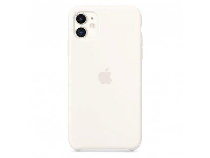 Originální silikonový kryt - Apple - pro iPhone 11 - Bílý