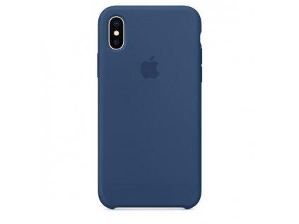 Originální Silikonový kryt - Apple - pro iPhone X - Kobaltově Modrý