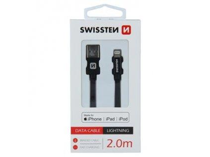mfi lightning kabel cerny swissten iphonelab 2m