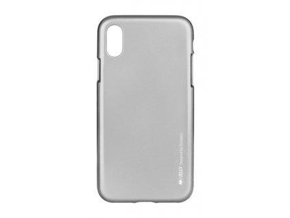 obal kryt iphone x mercury ijelly metal silikon sedy 22438