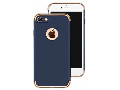 iphone 7 3 in 1 removable navy blue with golden splice slim fit anti fingerprint scratch resistant plastic mobile back case