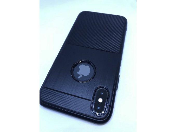 Carbon TPU kryt pro iPhone X/Xs