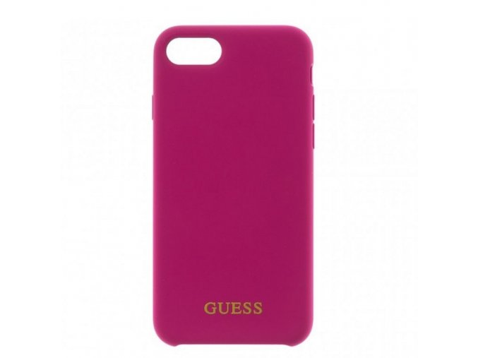Guess Xs max silicone dark pink min