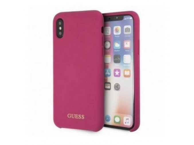 Guess iX silicone dark pink