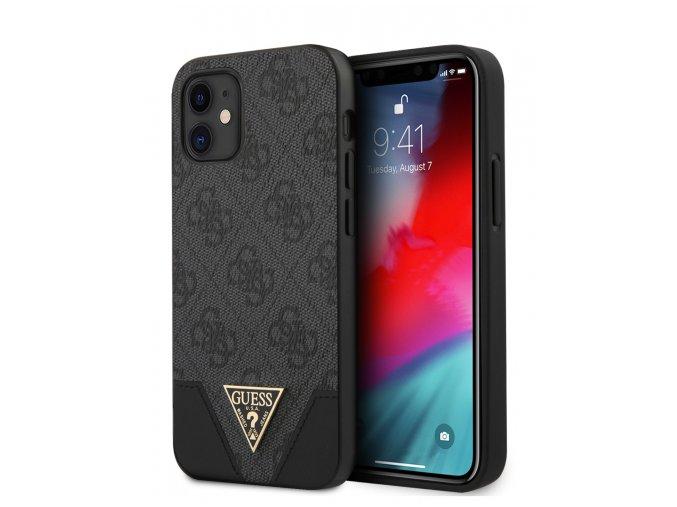 guess 4g triangle case for iphone 12 mini grey guhcp12spu4ghbk gallery