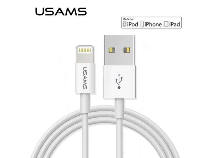 USAMS MFi Cable For lightning Cable 2 1A Fast Charging USB Data Sync Charger Cable for