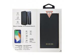 Guess XR book sklo black min