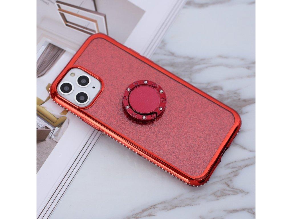 Silikónové púzdro Glittery s držiakom iPhone 11 Pro
