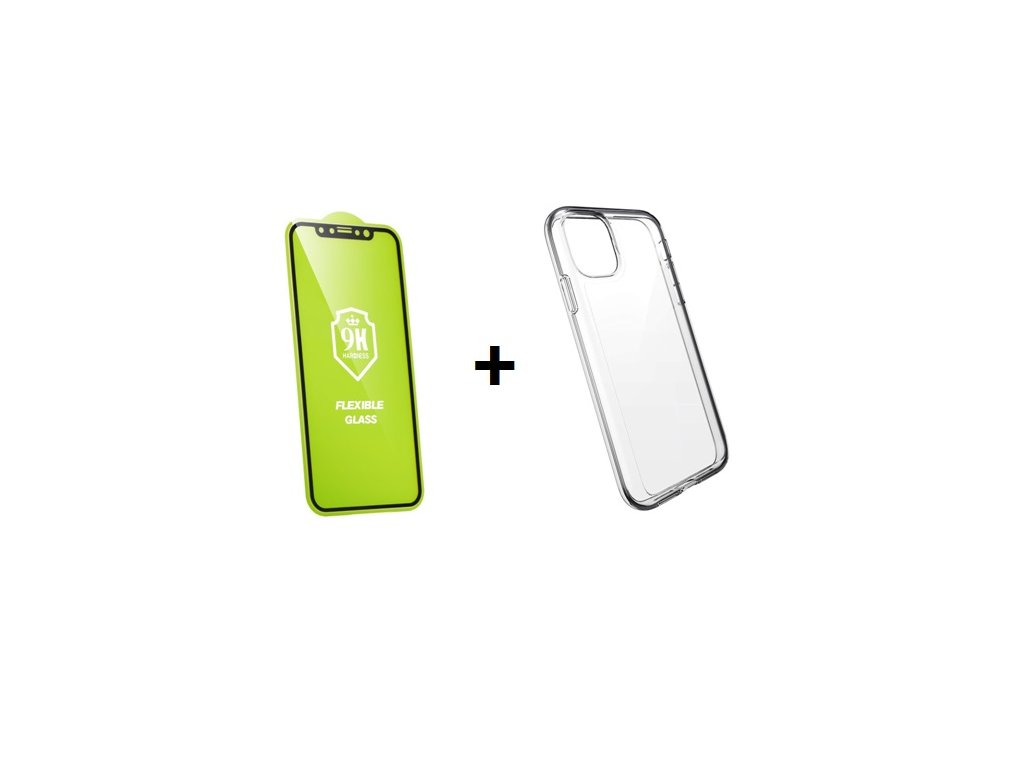 ETUI CLEAR CASE 2mm IPHONE 11 PRO MAX SZKLO 9H