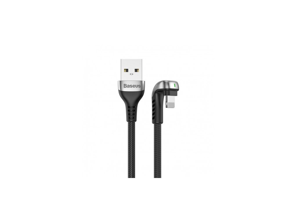 baseus green u shaped lamp mobile game cable usb for iphone 1 5a 2m black