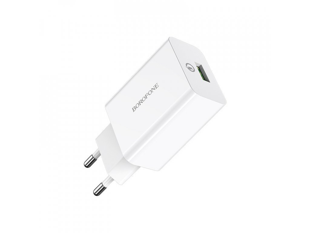 9845 1 borofone ba21a long journey single usb port qc30 wall charger eu safe