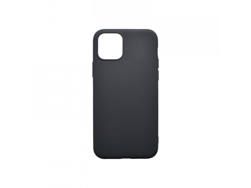 Matné gumené púzdro pre iPhone 12 Mini, čierne