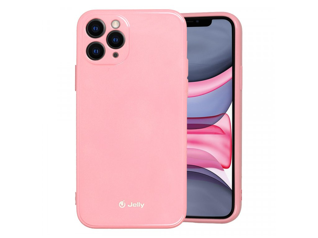 jelly case iphone 11 pro svetle ruzovy