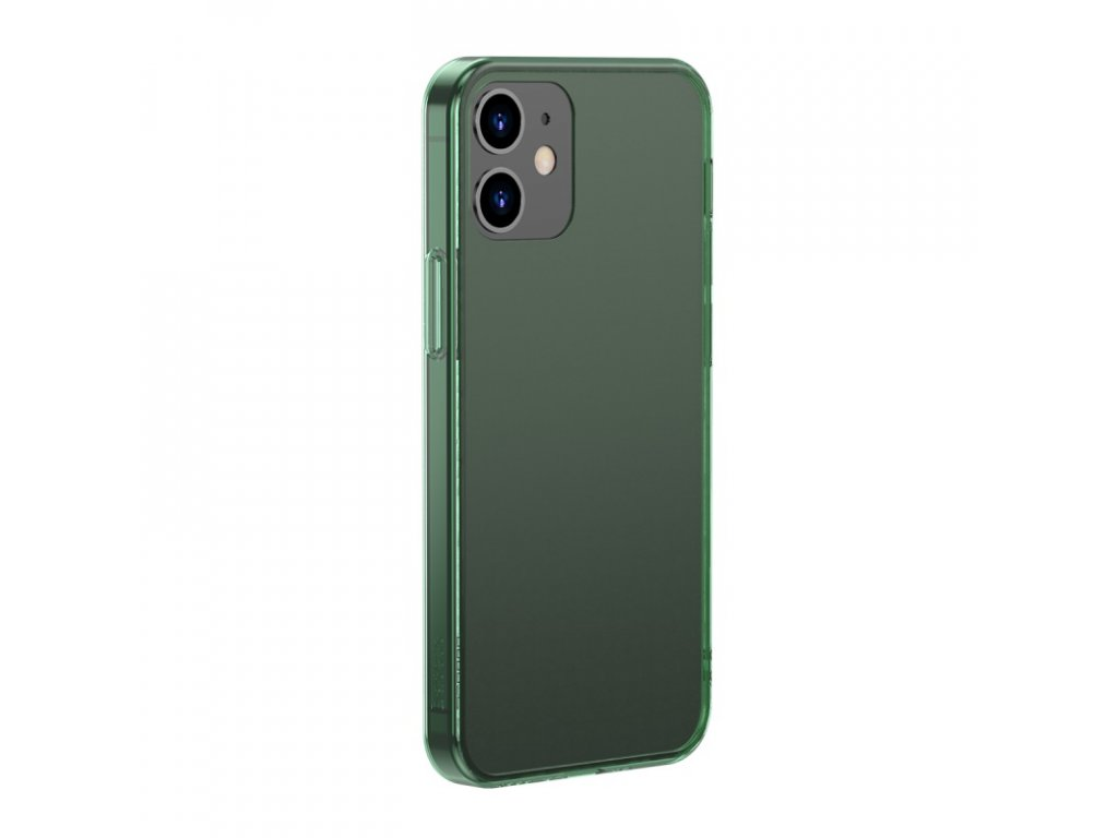baseus frosted glass protective case for iphone 6 1 pro 6 1inch 2020 green