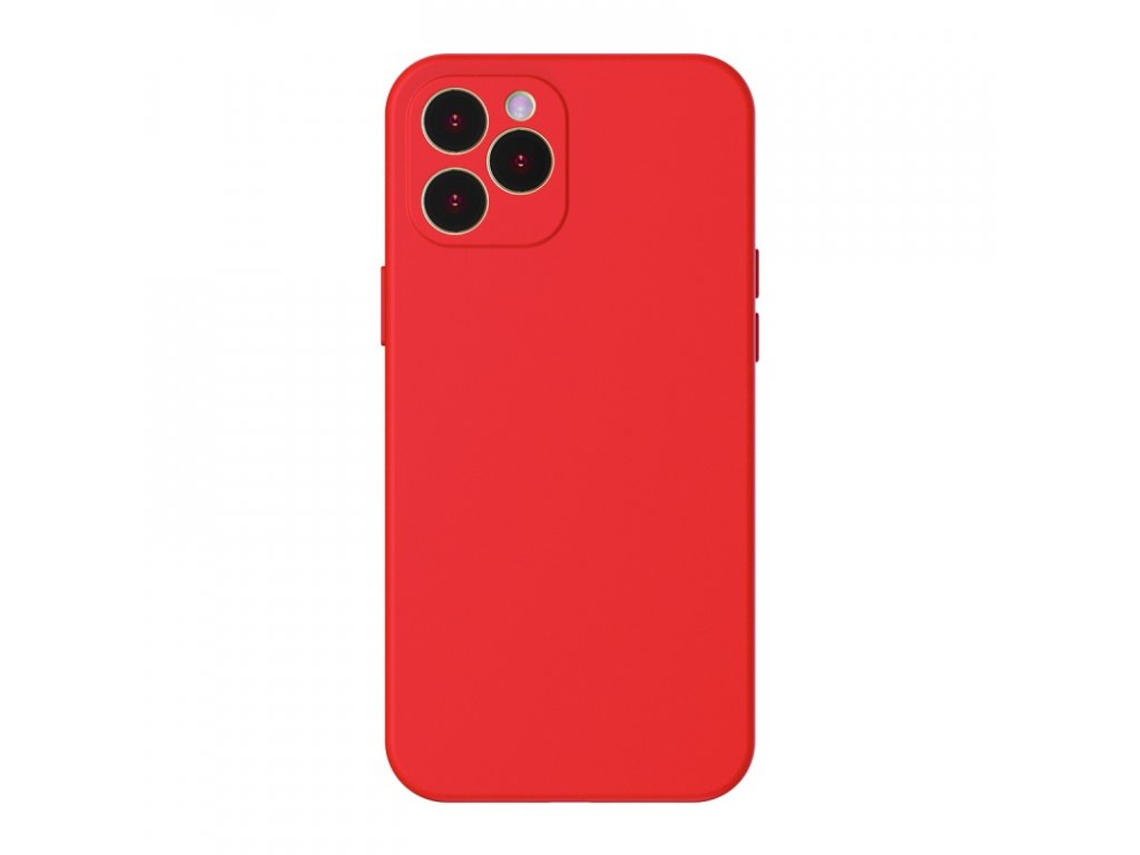 baseus liquid silica gel protective case for iphone pro 6 1inch 2020 red