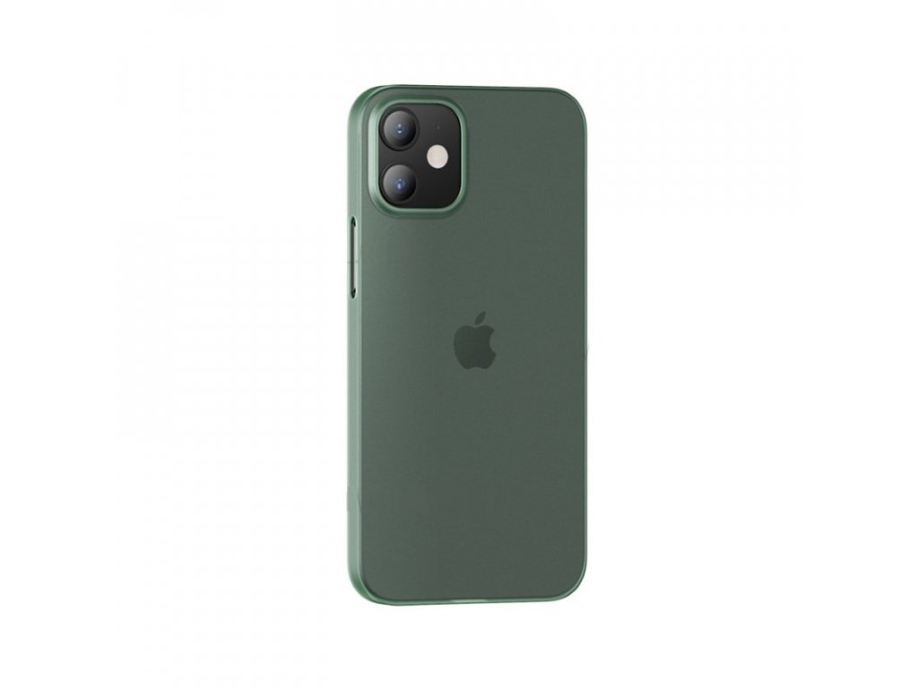 usams us bh608 gentle series soft pp back cover case for apple iphone 12 mini transparent green