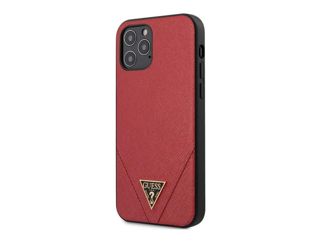 Guess Saffiano V Stitch púzdro pre iPhone 12 /12Pro Red