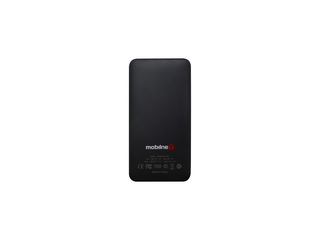 12938 powerbank 10000 mah cierny 2xusb a type c micro usb