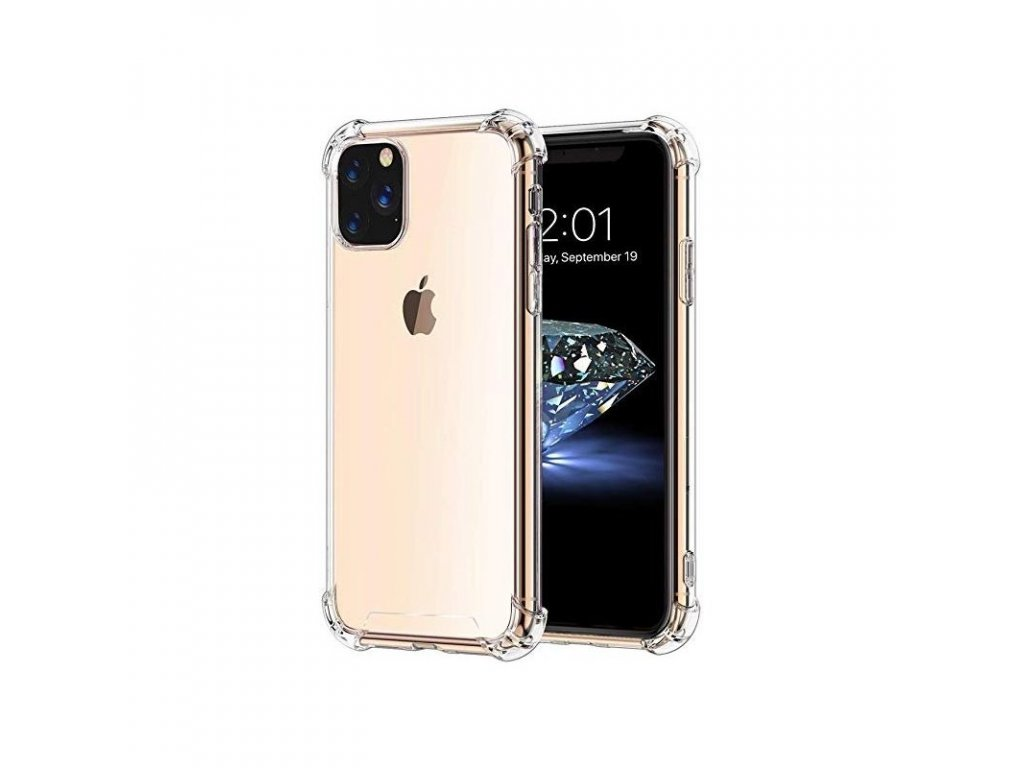 mocco anti shock case 05 mm silicone case for apple iphone 11 pro transparent