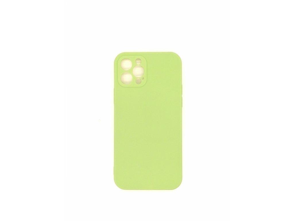 Silikónové púzdro pre iPhone 12, zelené