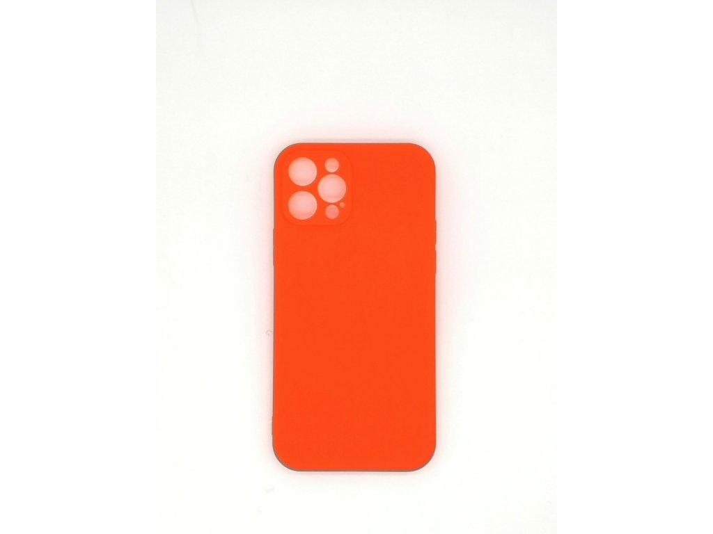 Silikónové púzdro pre iPhone 12, oranžové