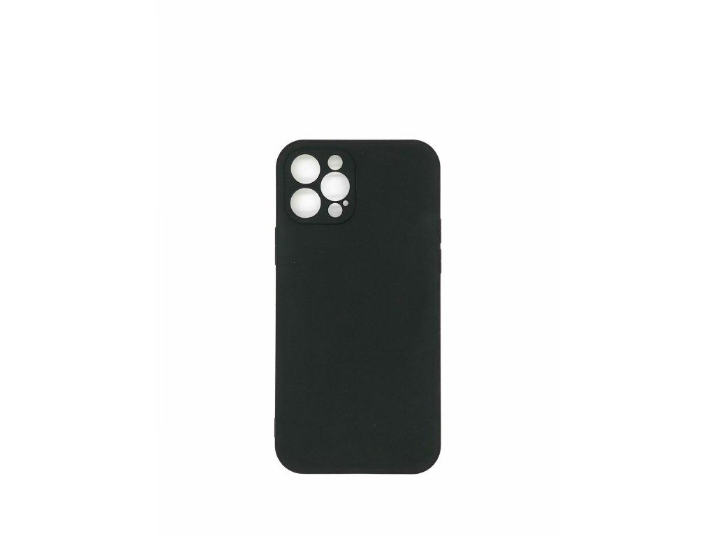 Silikónové púzdro pre iPhone 12, čierne