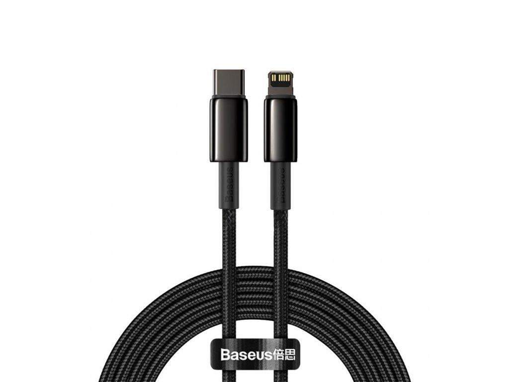 116422 baseus catlwj a01 kabel usb c pd apple lightning 20w 2m cerny
