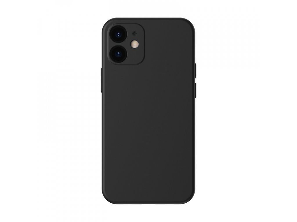 baseus liquid silica gel protective case for iphone 5 4inch 2020 black