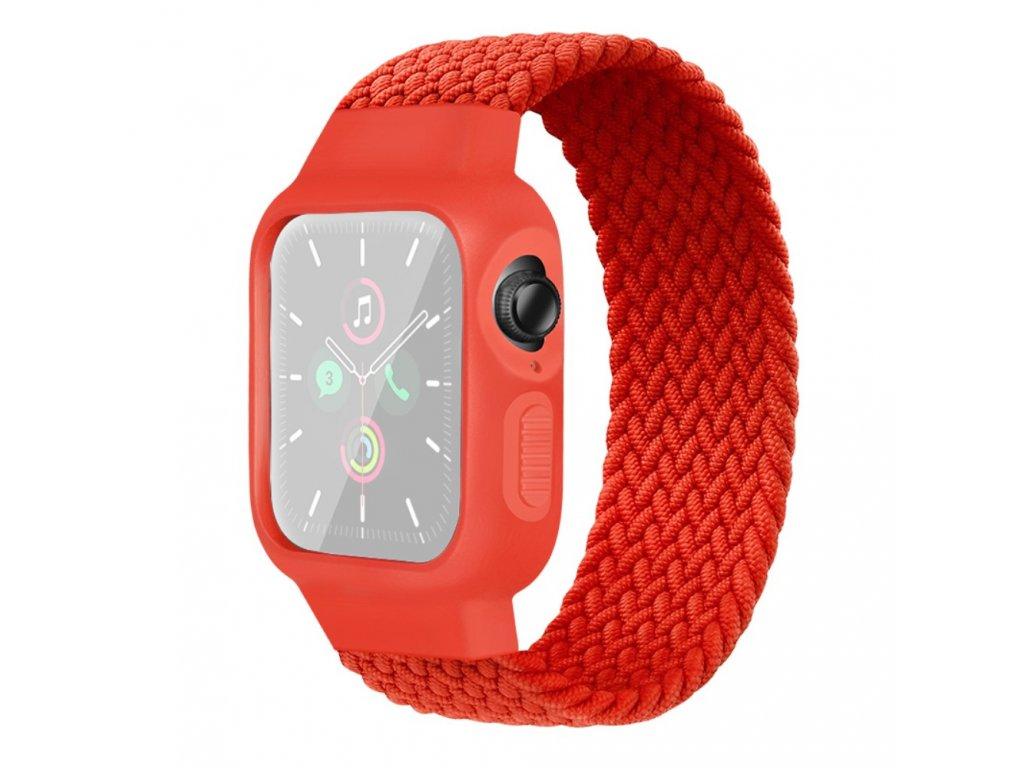 Púzdro a remienok pre Apple Watch 42/44mm, červené