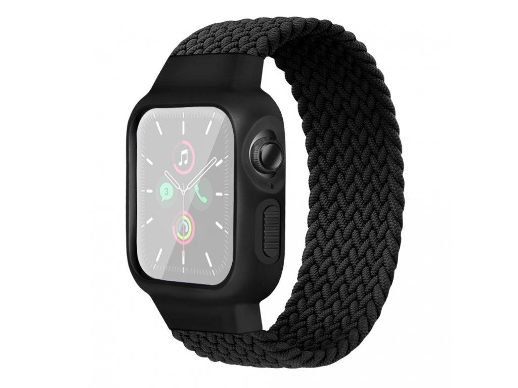 Púzdro a remienok pre Apple Watch 42/44mm, čierne