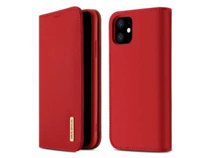 eng pl DUX DUCIS Wish Genuine Leather Bookcase type case for iPhone 11 red 52177 1