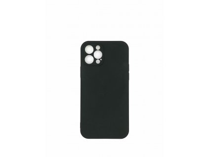Silikónové púzdro pre iPhone 11, čierna
