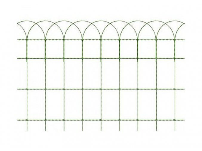 Okrasné pletivo ARCOPLAX, výška 40 cm zelené, balení 25 bm