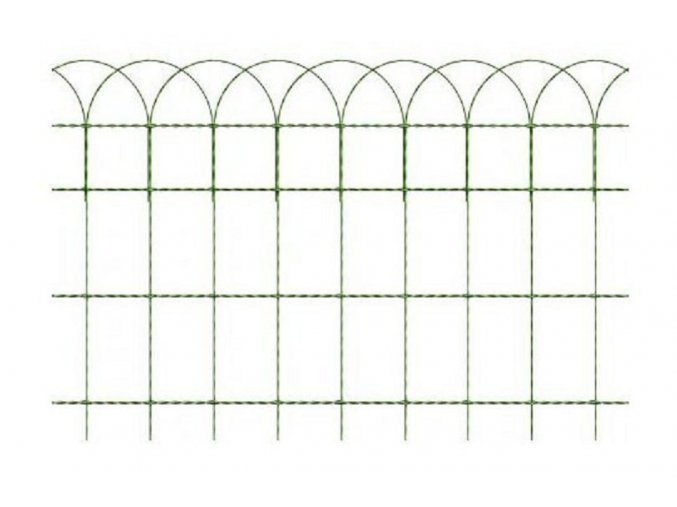 Okrasné pletivo ARCOPLAX, výška 65 cm zelené, balení 25 bm
