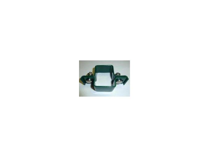 Příchytka Plotovýho panelu na sloupek 60x40 – průběžný, zelený