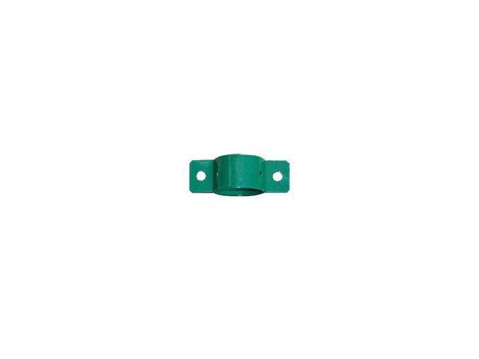 Objímka průběžná průměr 38 mm zelená