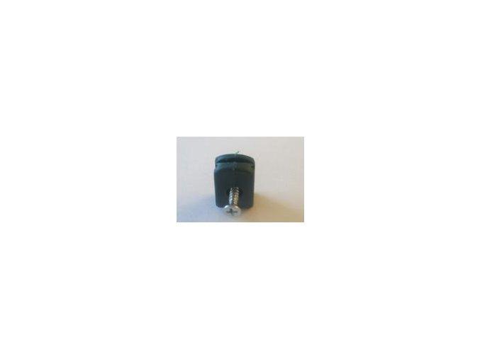 Příchytka PVC na napínací drát - zelená včetně šroubu