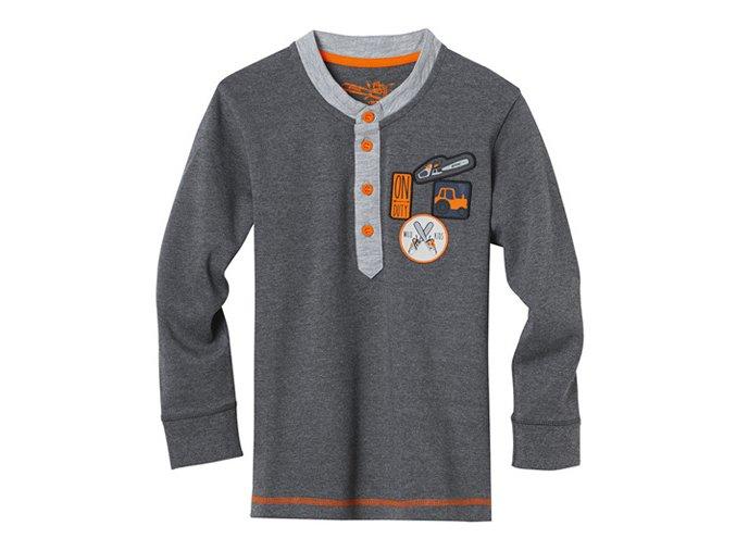 Tričko s dlouhým rukávem šedé