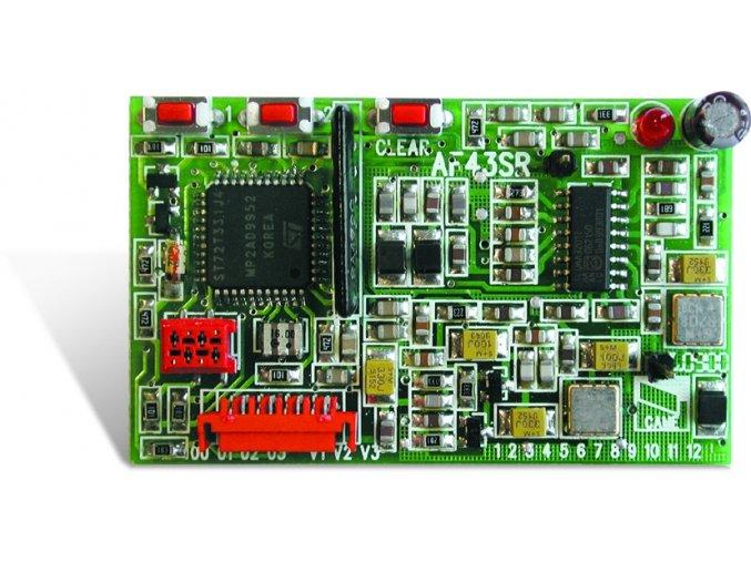 AF43SR přijímač 433 MHz plovoucí kód