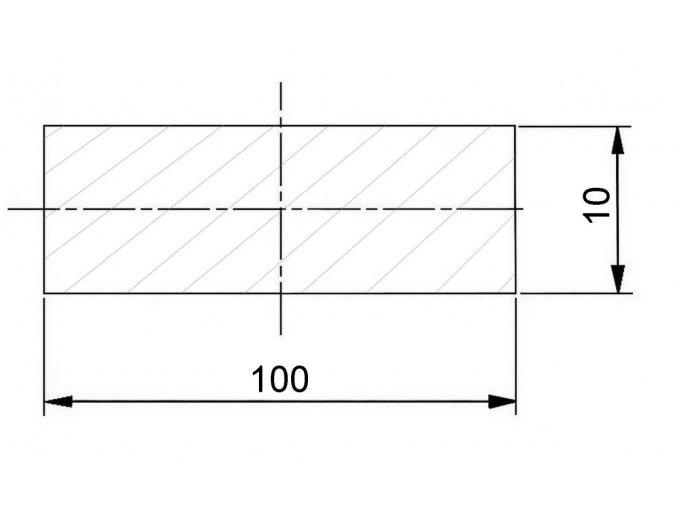 plochá ocel 100 x 10 mm (1)
