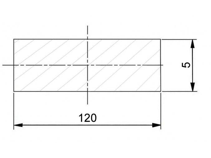 120 x 5 mm
