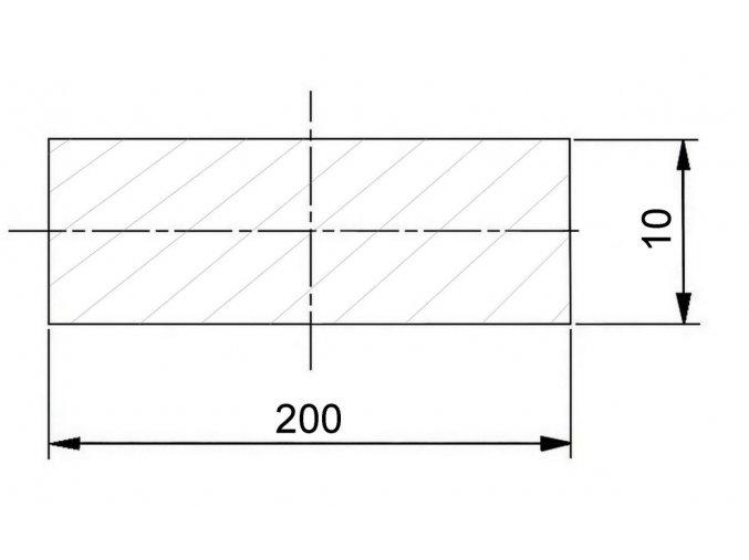200 x 10 mm