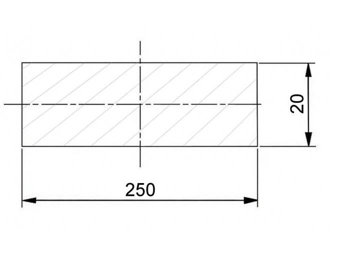 250 x 20 mm