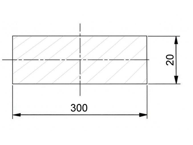 300 x 20 mm