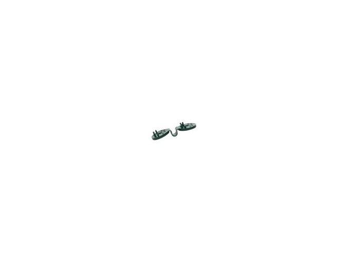 Úchyt na stínící sítě CLIPS 4cm, zelený