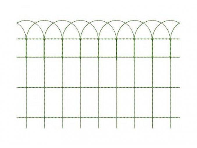 Okrasné pletivo ARCOPLAX, výška 65 cm zelené, balení 10 bm